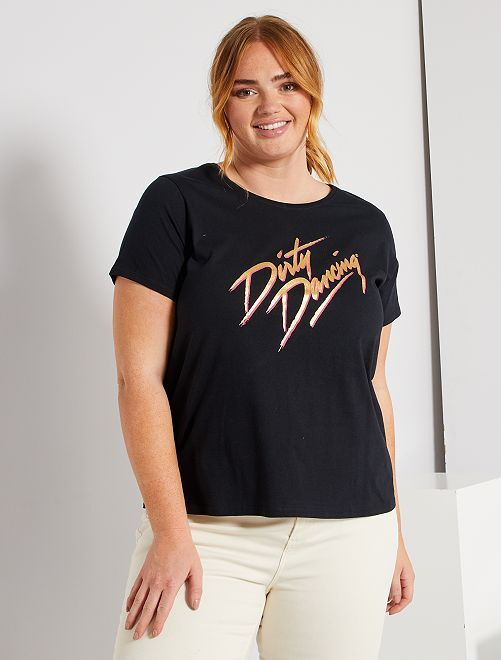 T-shirt 'Dirty Dancing'                             noir