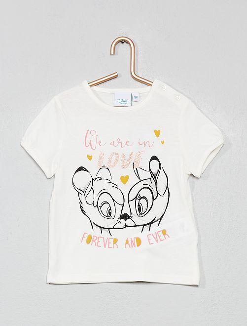 T-shirt 'Disney Baby'                                                                                         écru bambi Bébé fille