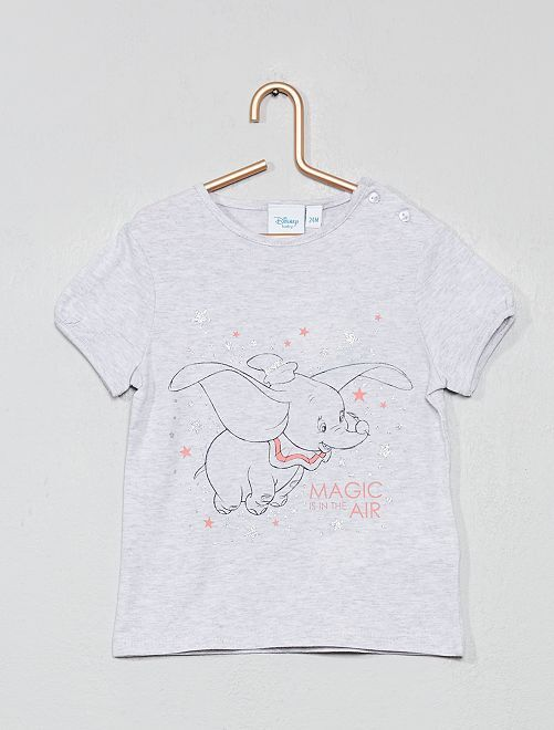 T-shirt 'Disney Baby'                                                                                         gris chiné dumbo Bébé fille