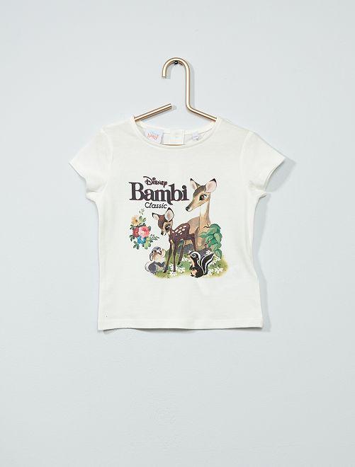 T-shirt 'Disney'                     blanc/bambi