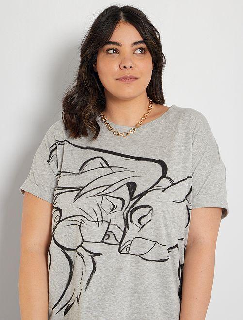 T-shirt 'Disney'                                                                                                     gris/le roi lion