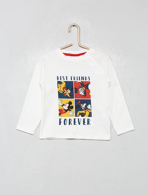 T-shirt 'Disney' 'La bande à Mickey'                                         blanc