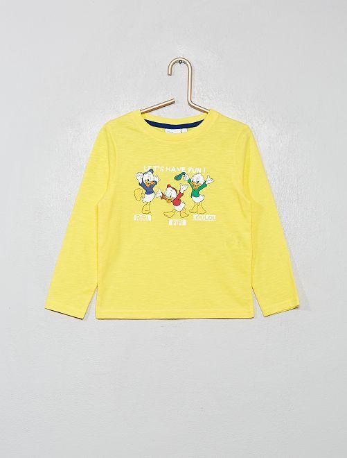 T-shirt rayé 'Mickey'                                             jaune