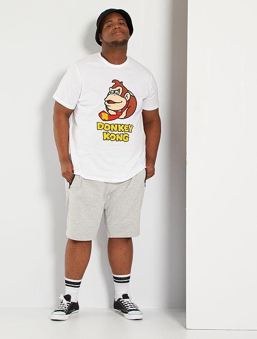 T-shirt 'Donkey Kong'                             blanc
