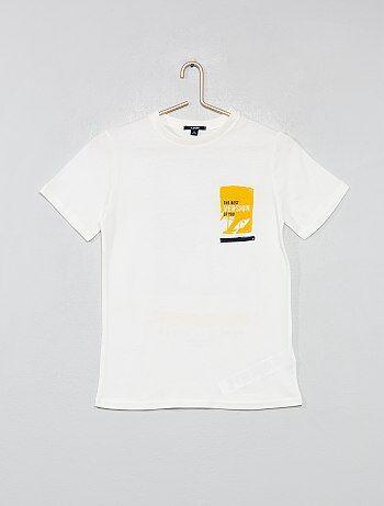 T-shirt dos imprimé
