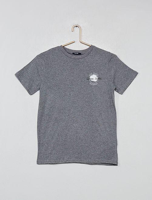 T-shirt dos imprimé                                                     gris