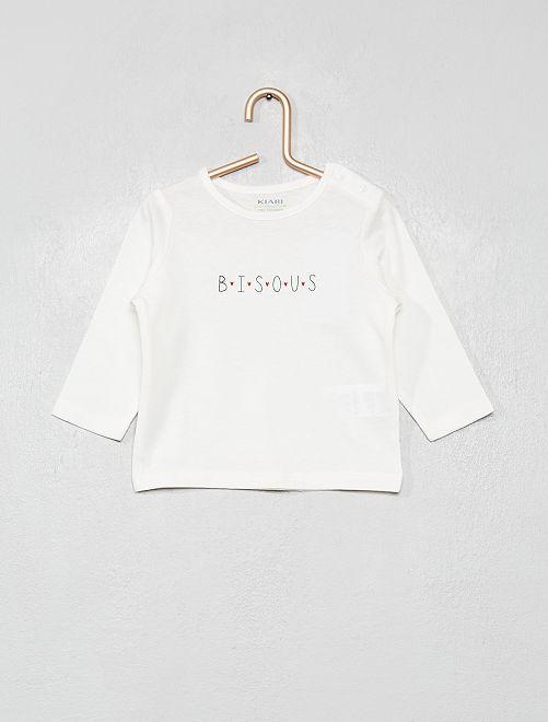 T-shirt 'éco-conception' à message                                                                                         blanc