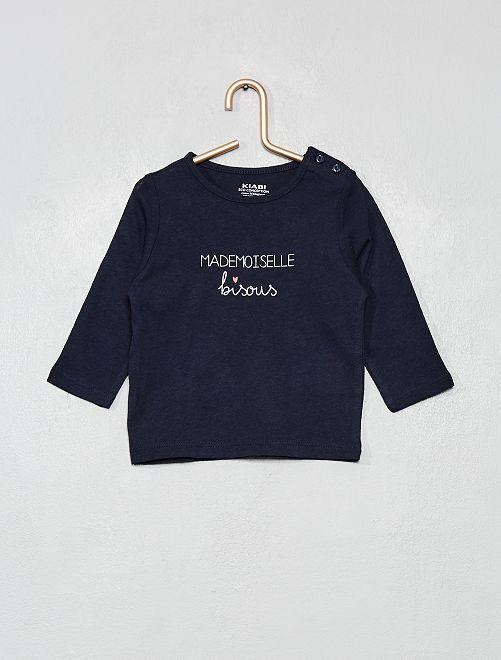 T-shirt 'éco-conception' à message                                                                                         bleu marine