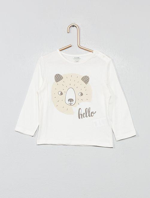 T-shirt 'Eco Conception'                                                                                                                             blanc ours Bébé garçon
