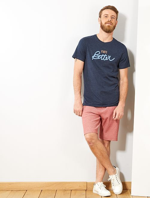 T-shirt 'éco-conception'                                                                                             bleu marine Homme