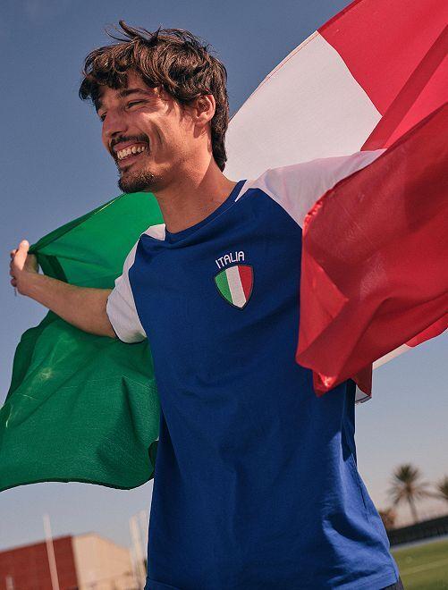 T-shirt  'éco-conception'                                                                 bleu/italie