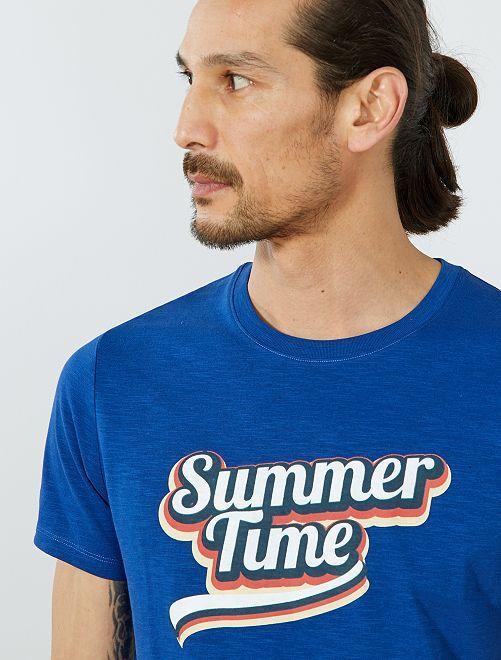 T-shirt Eco-conception coton bio                                                                                                                                                                 bleu summer Homme