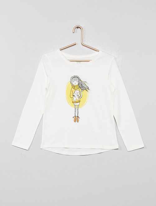 T-shirt 'éco-conception'                                                                 écru