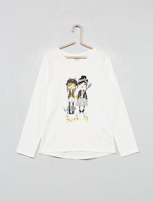 T-shirt 'éco-conception'                                                                                                     écru filles