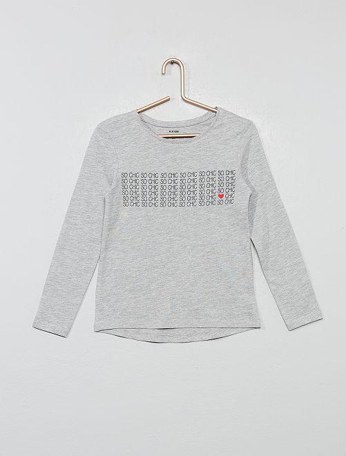 T-shirt 'éco-conception'                                             gris chiné