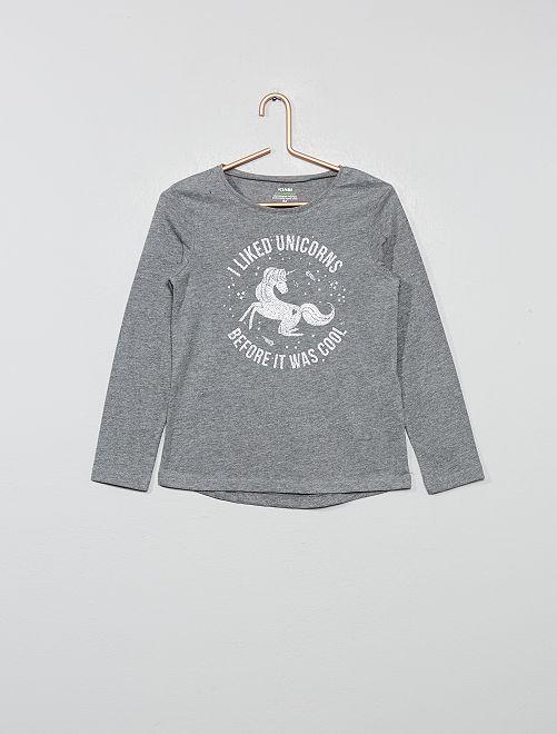 T-shirt 'éco-conception'                                                                                                                                                     gris chiné/argenté
