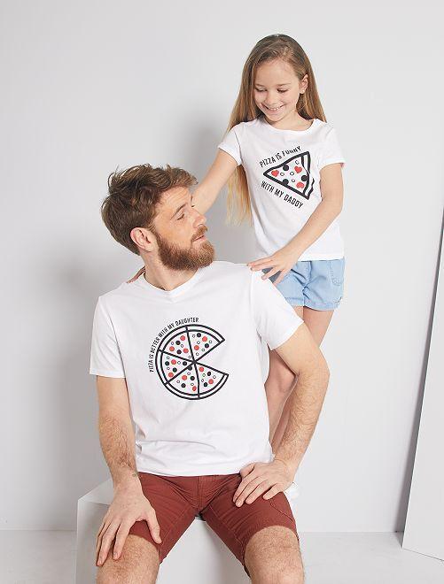 T-shirt 'éco-conception' imprimé                                                                                         blanc
