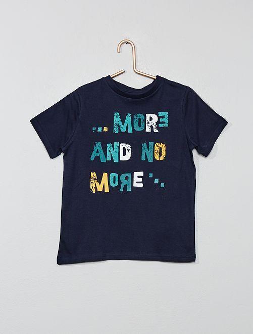 T-shirt 'Eco-conception' imprimé                                                                                                     bleu foncé Garçon
