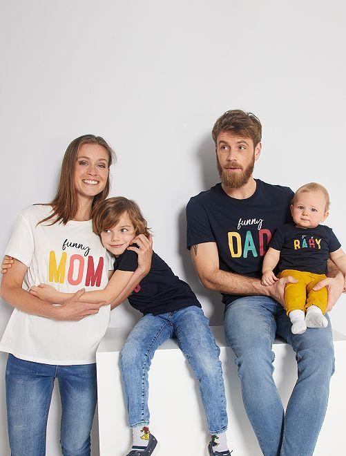 T-shirt 'éco-conception' imprimé                                                                             BLEU
