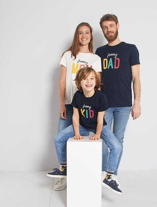 T-shirt 'éco-conception' imprimé                                         bleu marine