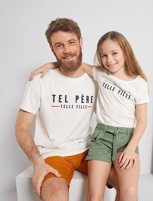 T-shirt 'éco-conception' imprimé                                                                                         écru