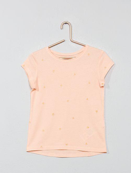 T-shirt 'Eco-conception' imprimé                                                                             rose Fille