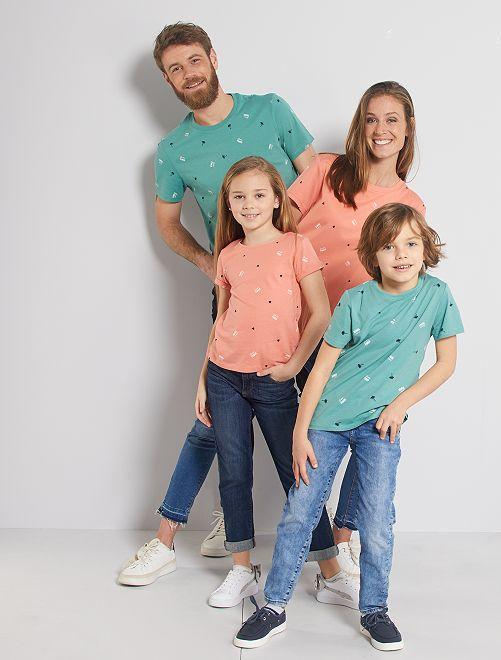 T-shirt 'éco-conception' imprimé                                                     ROSE
