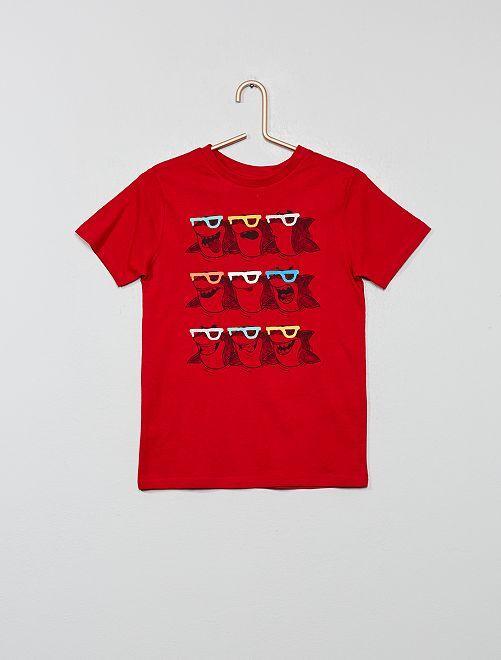 T-shirt 'Eco-conception' imprimé                                                                                                     rouge Garçon