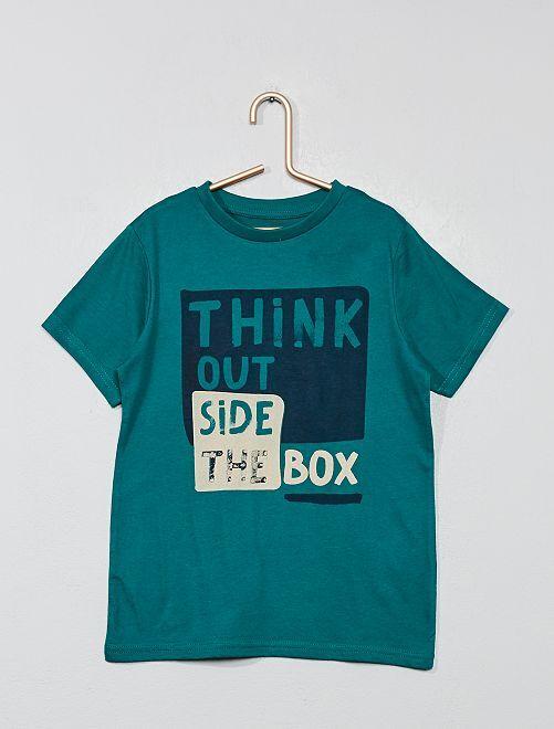 T-shirt 'Eco-conception' imprimé                                                                                                     vert Garçon