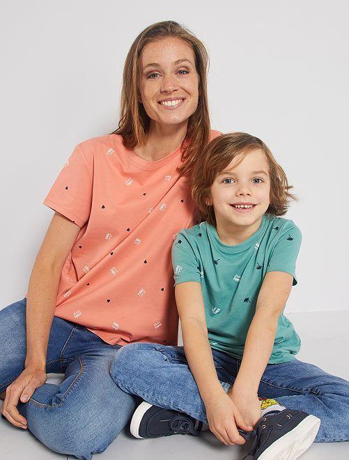 T-shirt 'éco-conception' imprimé                                         vert