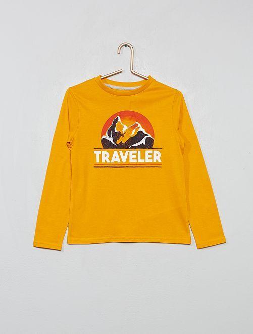 T-shirt 'éco-conception'                                                                                                                 jaune montagne