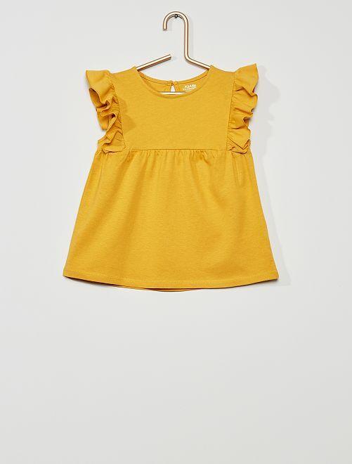 T-shirt 'éco-conception'                                                                                                                             jaune moutarde