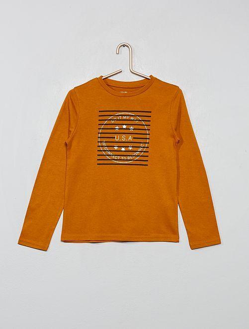 T-shirt 'éco-conception'                                                                                                                 jaune rayures