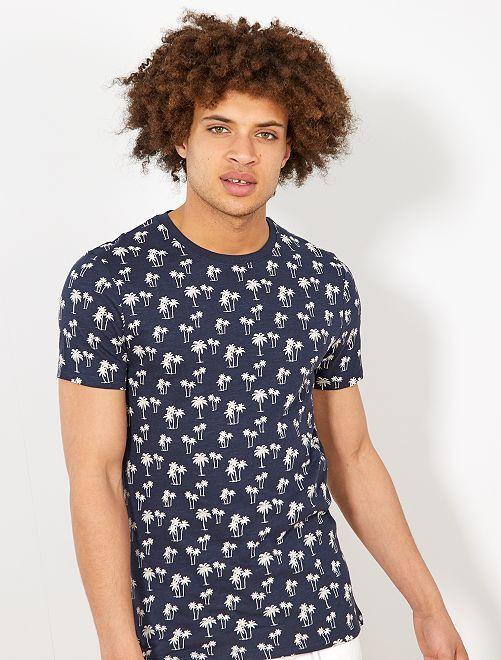 T-shirt 'éco-conception'                                                                                             marine palmier