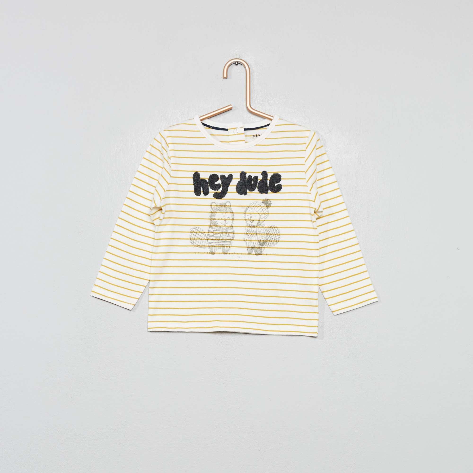 T Shirt Eco Conception Rayures Et Bouclettes