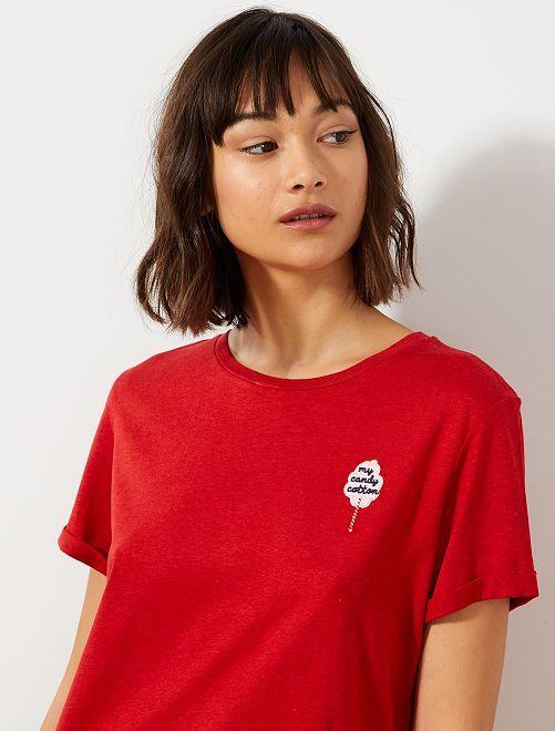 T-shirt 'éco-conception'                                                                 rouge brique Femme