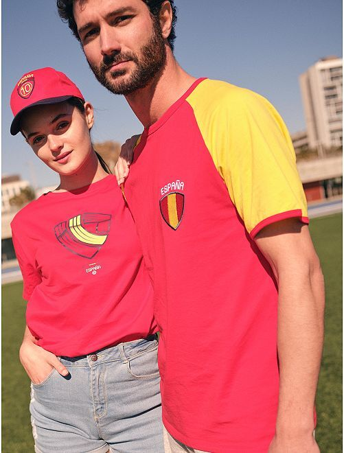 T-shirt  'éco-conception'                                                                 rouge/espagne