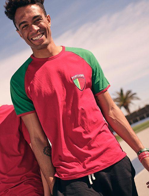 T-shirt  'éco-conception'                                                                 rouge/portugal