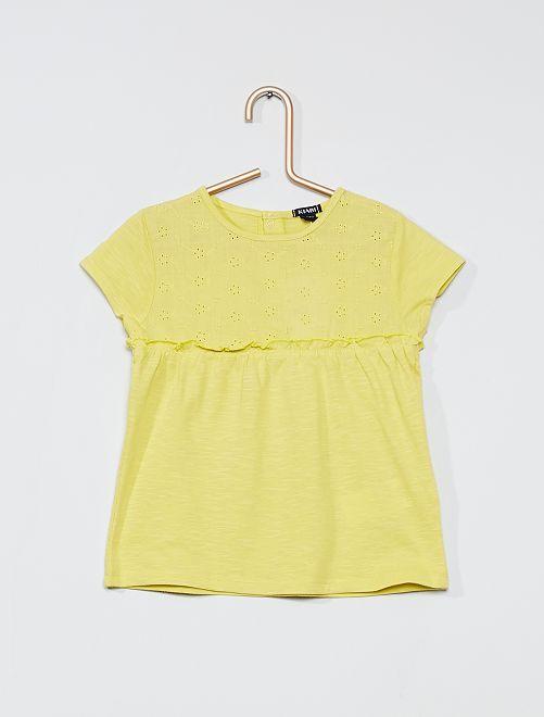 T-shirt 'éco-conception'                                                     vert anis