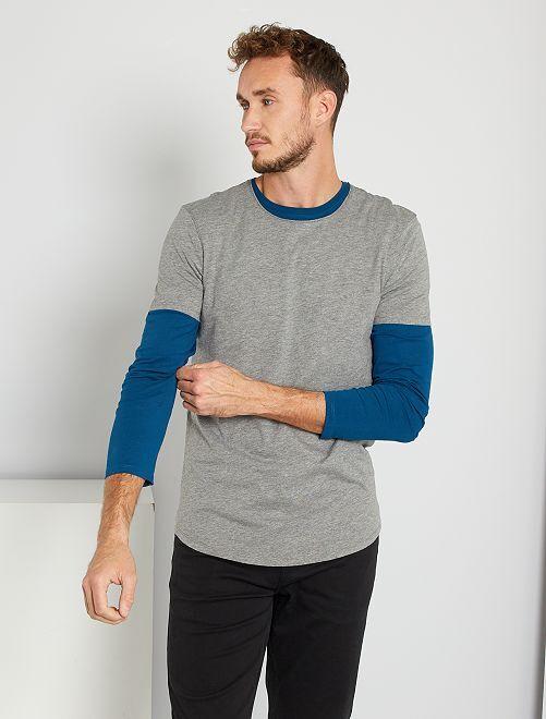 T-shirt éco-conçu +1m90                                             gris chiné