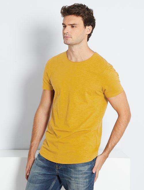 T-shirt éco-conçu +1m90                                                     ocre