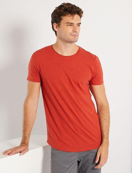 T-shirt éco-conçu +1m90                                                     orange ketchup