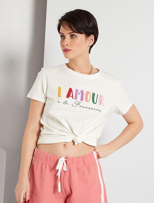 T-shirt éco-conçu 'amour'                                                                                                                                                                                                                                                                                                                                                                             blanc 'amour'