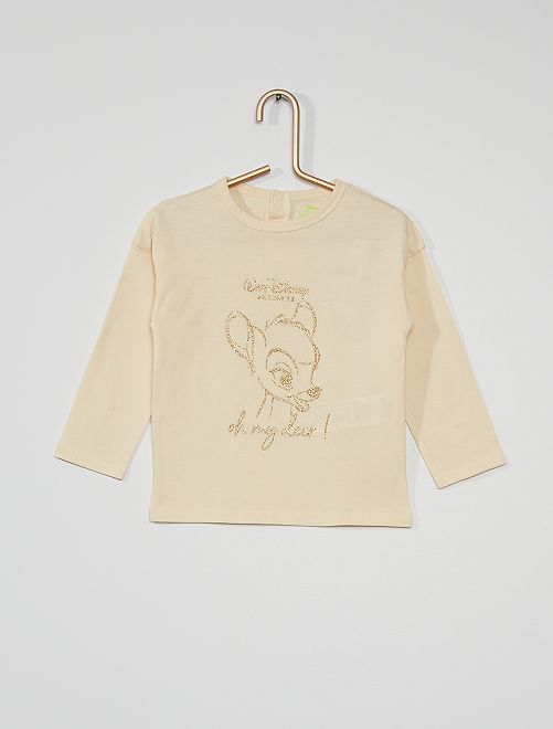 T-shirt éco-conçu 'Bambi'                                                     blanc