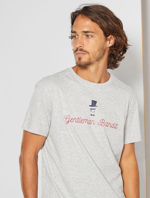 T-shirt éco-conçu 'bandit'                                                                                                                                                                                                                                         gris bandit