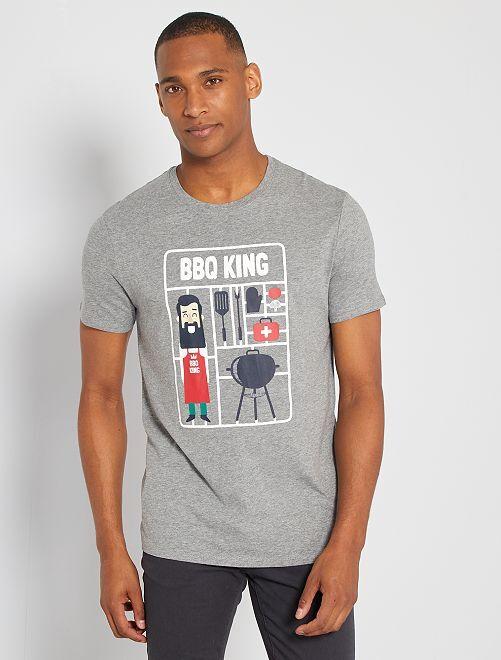 T-shirt éco-conçu 'BBQ'                                                                                                                                                                                                                             gris bbq
