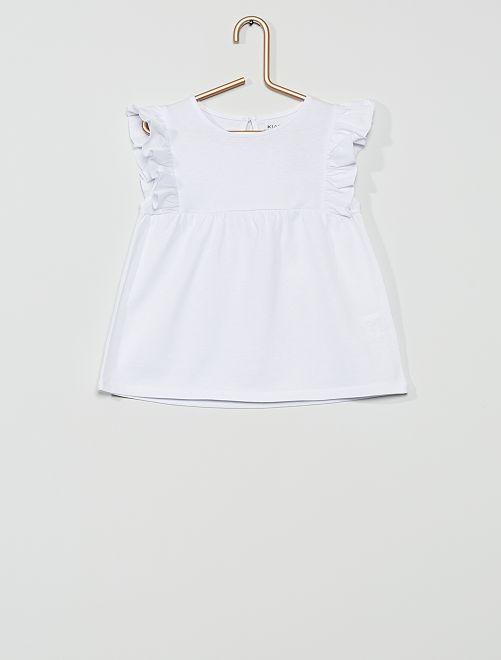 T-shirt 'éco-conçu'                                                                                                                 blanc