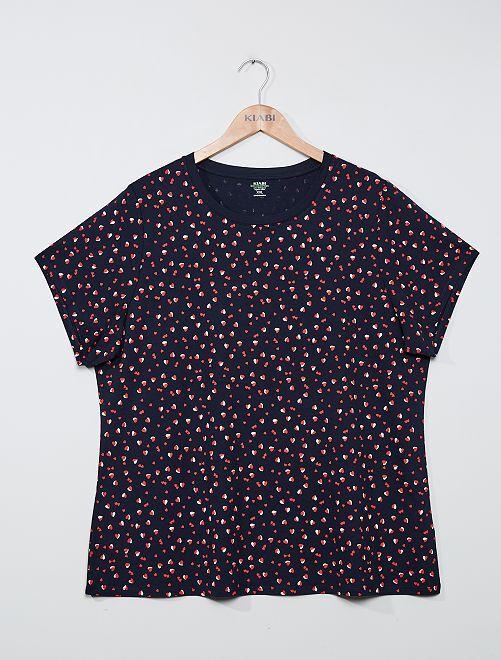 T-shirt éco-conçu                                                                                                                                                     bleu coeurs