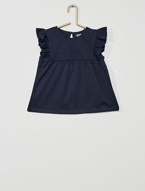 T-shirt 'éco-conçu'                                                                                                                 bleu marine