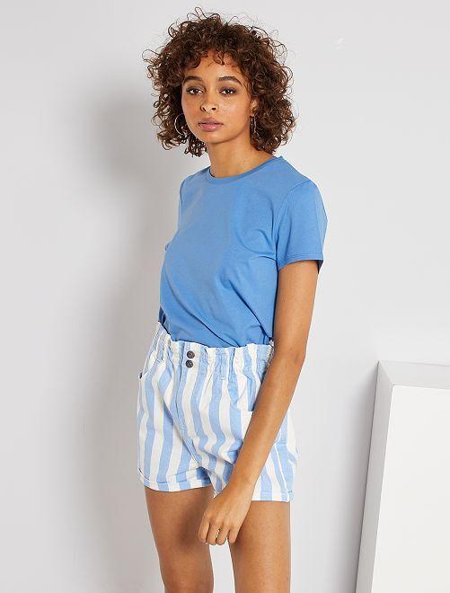 T-shirt éco-conçu                                                                                                                                                                                                                 bleu yonde